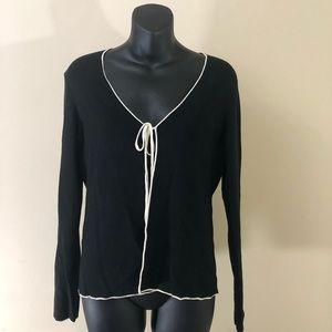 Ann Taylor loft open cardigan black size Medium